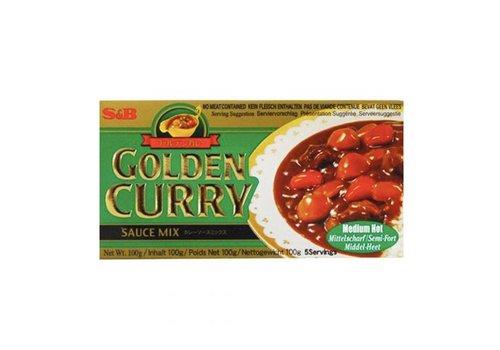 S&B Golden Curry Medium Hot, 100g