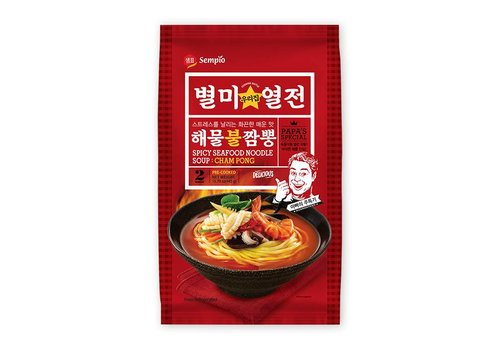 Sempio Cham Pong Spicy Noodle Soup, 439g