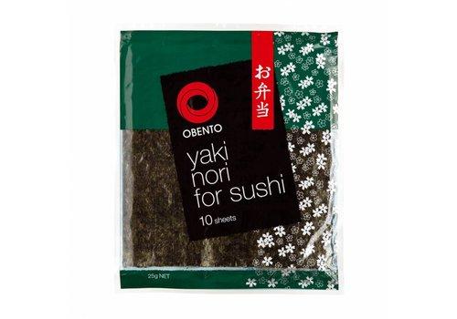 Obento Yaki Nori for Sushi, 10 sheets