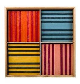 Kapla Kapla 100 gekleurde plankjes in kist