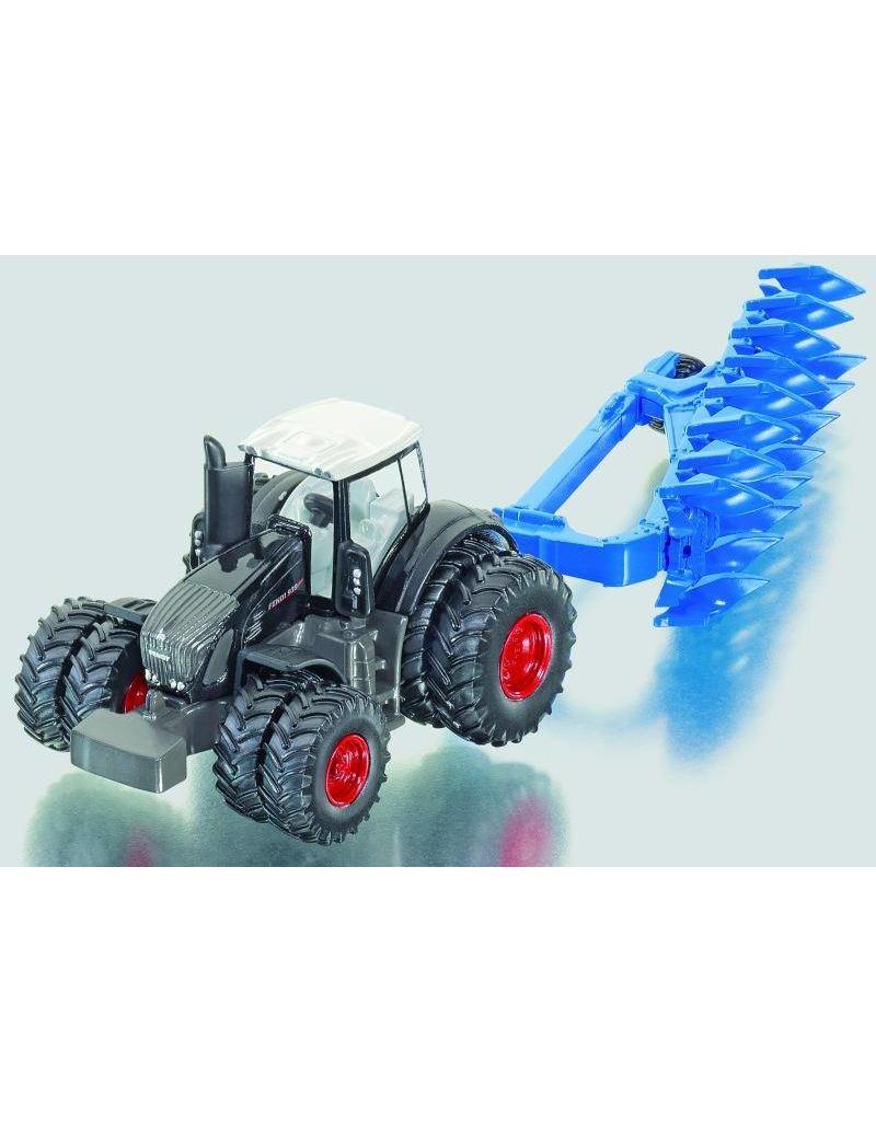 Siku Siku 1862 - Fendt 939 Vario Black tractor met ploeg 1:87