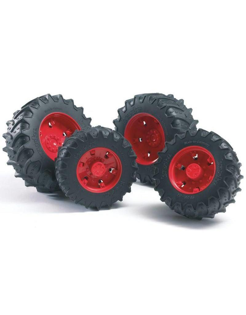 Bruder Bruder 3313 - Dubbellucht wielenset rood
