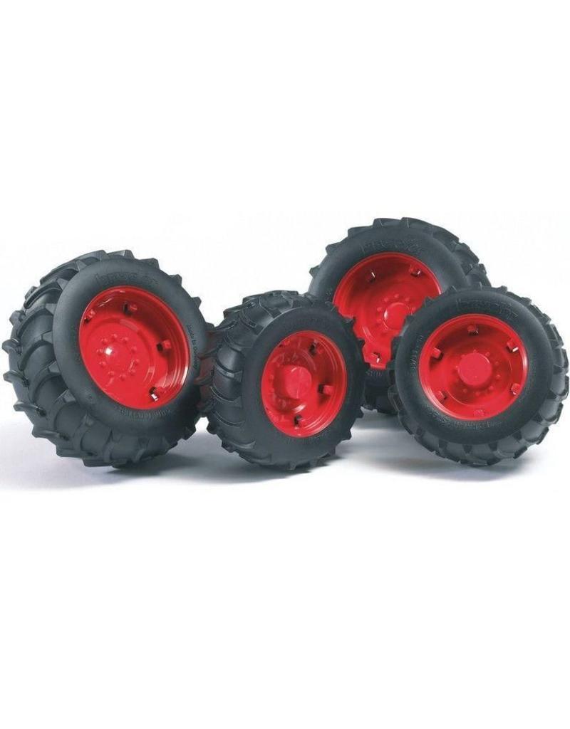 Bruder Bruder 2322 - Dubbellucht wielenset rood