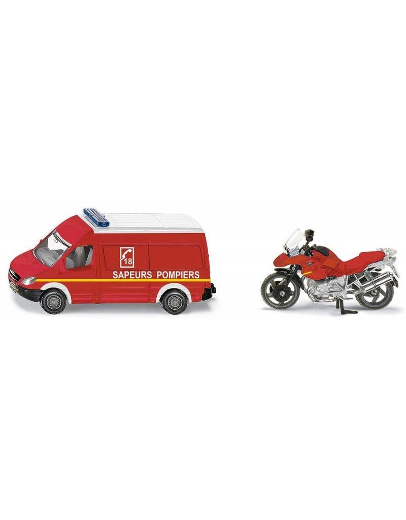 Siku Siku 1656 - Brandweer set (auto met motor) 1:87