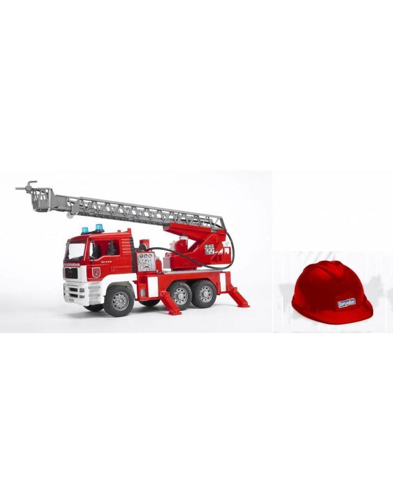 Bruder Bruder 1981 - Brandweerauto met rode helm