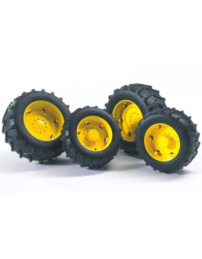 Bruder Bruder 2321 - Dubbellucht wielenset geel