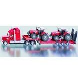 Siku Siku 1857 - Dieplader met 2 Massey Ferguson tractors 1:87