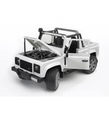 Bruder Bruder 2591 - Land Rover pick-up (wit)