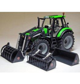 Weise Toys Weise Toys 1045 - Deutz Agrotron 6190 C Shift + STOLL Voorlader 1:32