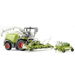 Wiking Wiking 77812 - Claas Jaguar 860 Hakselaar met Orbis 750 en Pick Up 300 1:32