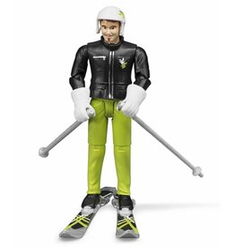 Bruder Bruder 60040 - Speelfiguur skiër met accessoires