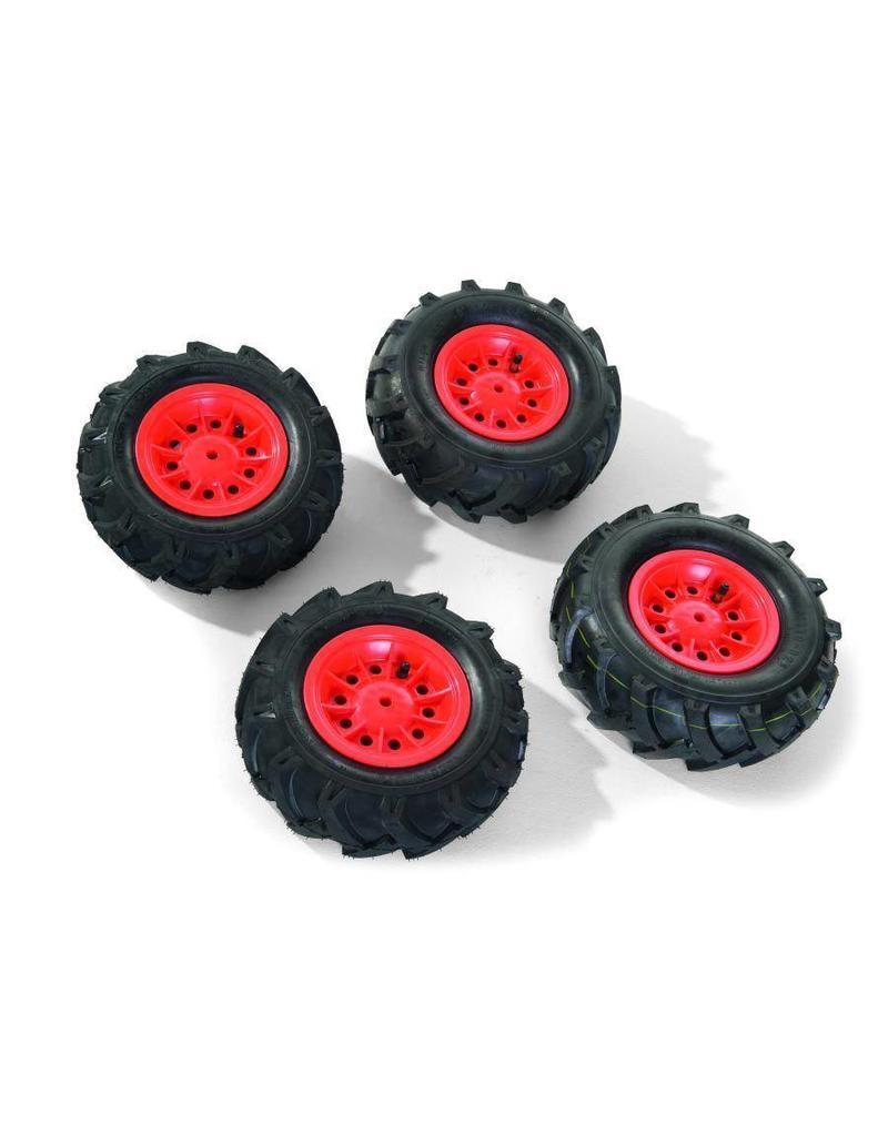 Rolly Toys Rolly Toys Luchtbanden ROOD voor Tractoren RT7xx serie (4 stuks)