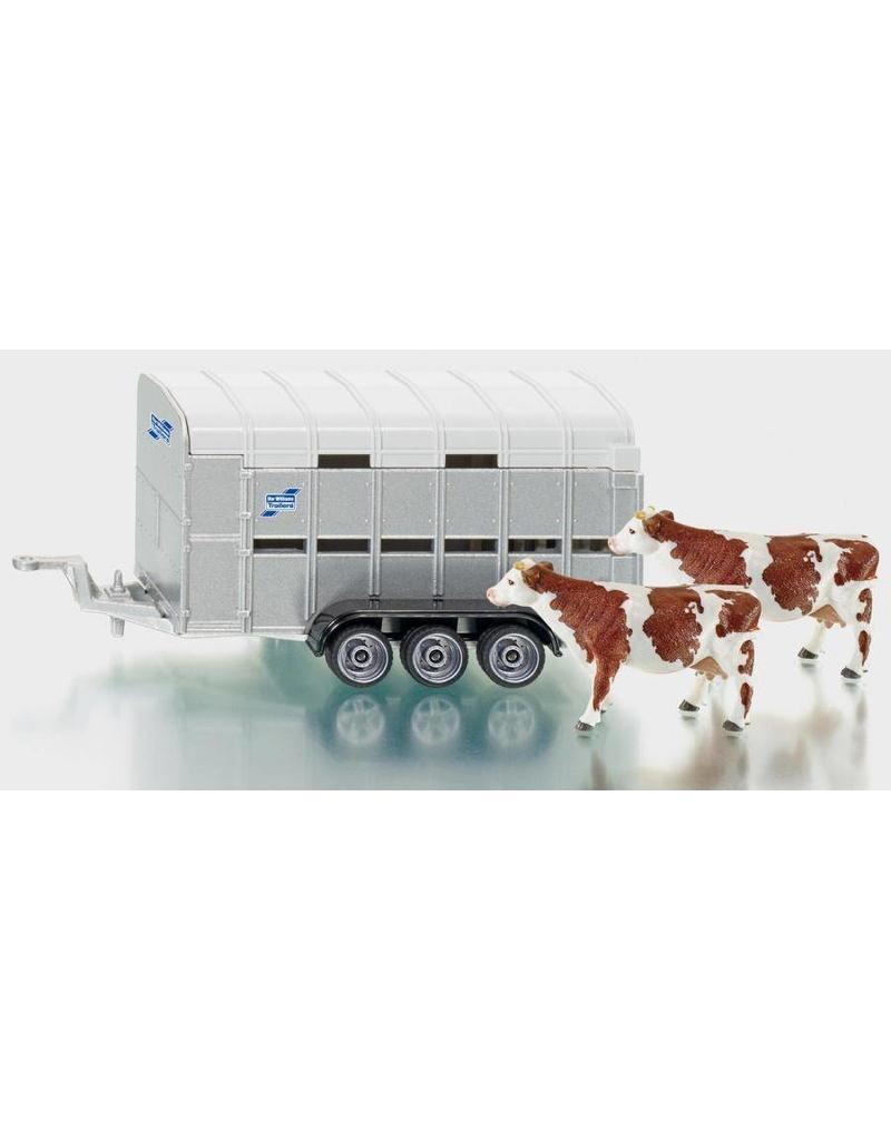 Siku Siku 2890 - Ifor Williams Veeaanhanger met 2 roodbonte koeien 1:32