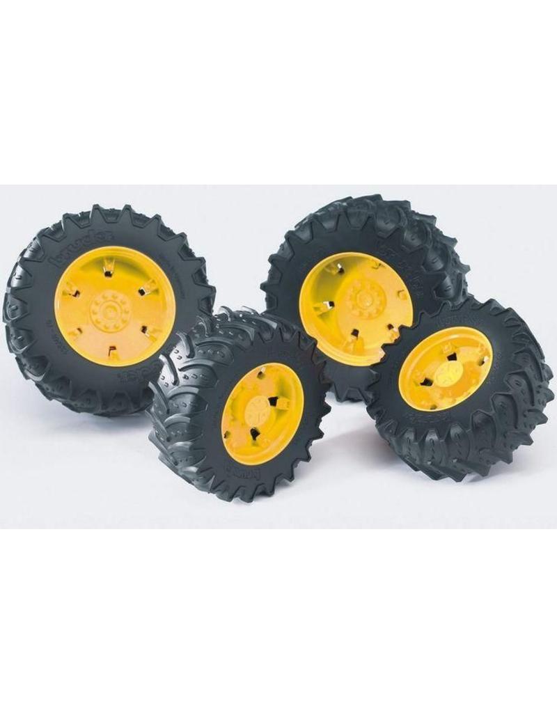 Bruder Bruder 3314 - Dubbellucht wielenset geel