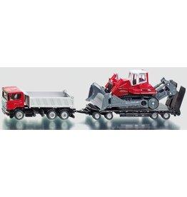 Siku Siku 1854 - Vrachtwagen met aanhanger en bulldozer 1:87