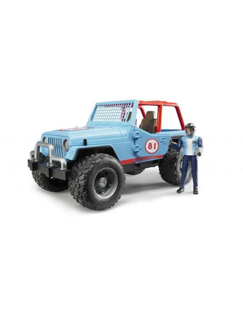 Bruder Bruder 2541 - Jeep Cross Country Blauw met rally-rijder