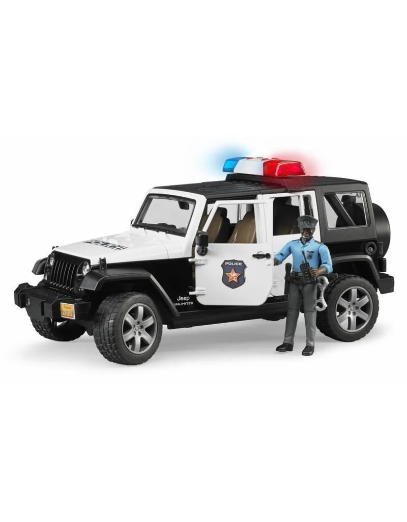 Bruder Bruder 2527 - Politie Jeep met politieagent ( donkere huidskleur )