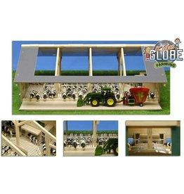Kids Globe Kids Globe 610694 - Dubbele open front stal met melkinrichting (1:32 / Siku)