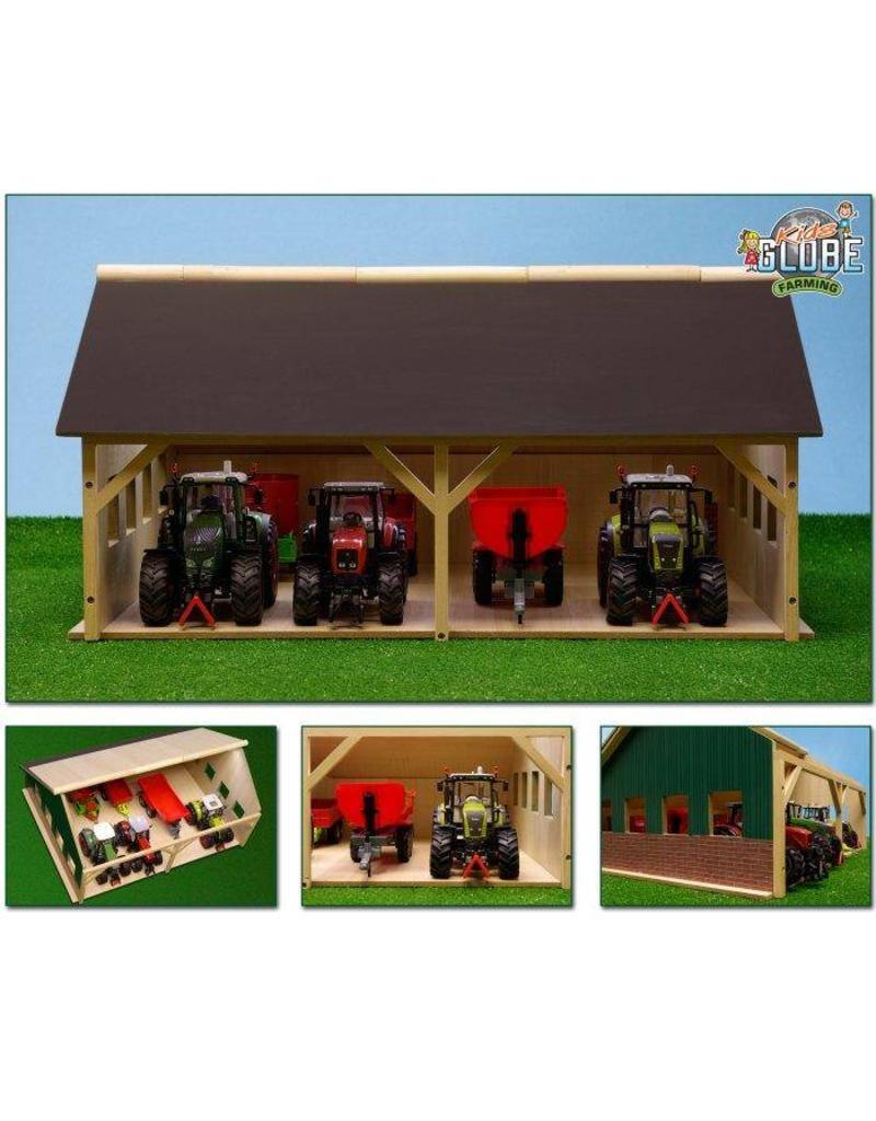 Kids Globe Kids Globe 610223 - Tractorloods voor 4 tractoren (1:32 / Siku)