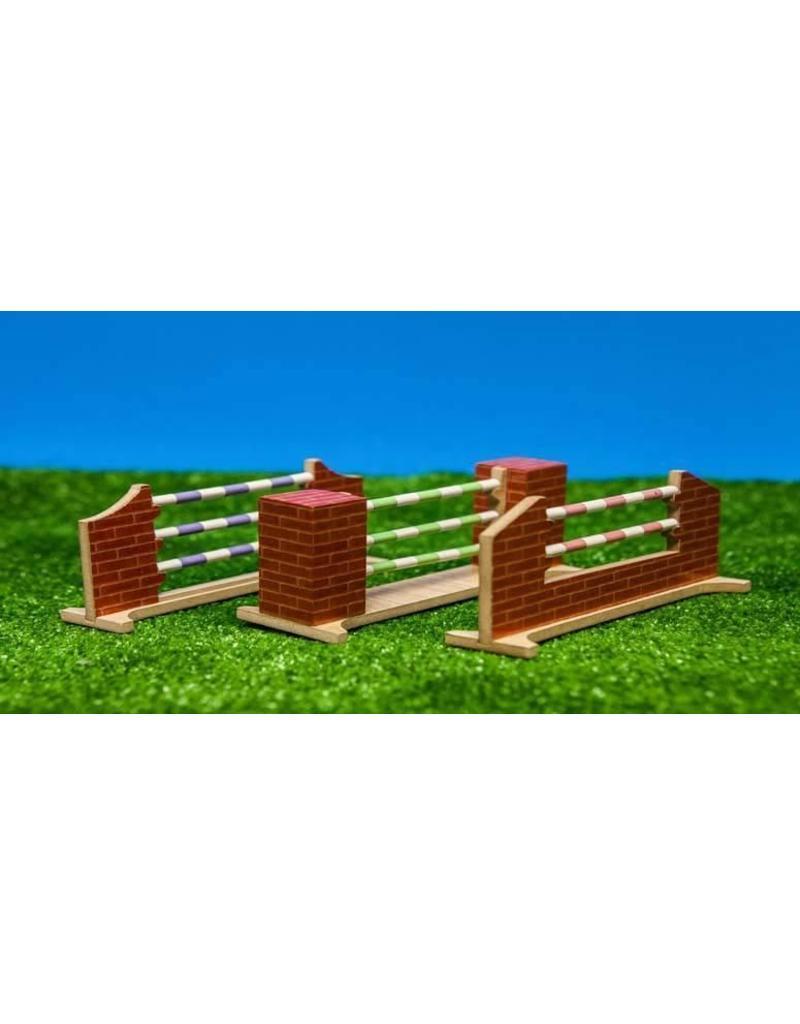 Kids Globe Kids Globe 610119 - Hindernissen voor paarden - 3 assorti - 1:24 (geschikt voor Schleich)