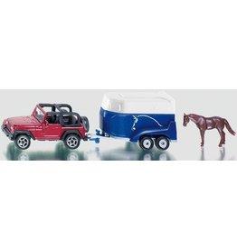 Siku Siku 1651 - Jeep met paardentrailer en paard 1:87
