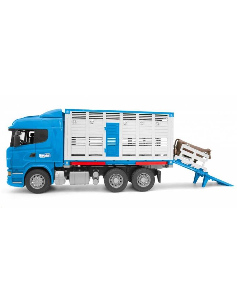 Bruder Bruder 3549 - Scania R-vrachtwagen voor veetransport met 1 koe