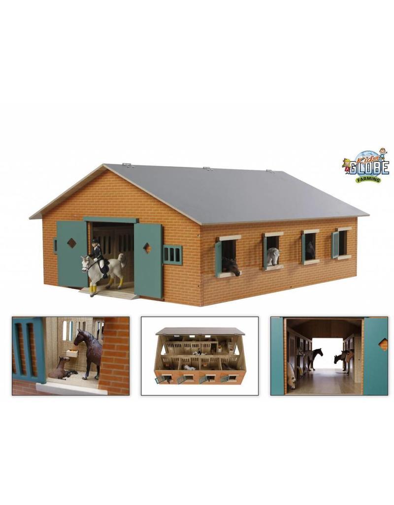 Kids Globe Kids Globe 610595 - Paardenstal met 7 boxen (1:24) GESCHIKT voor SCHLEICH!!
