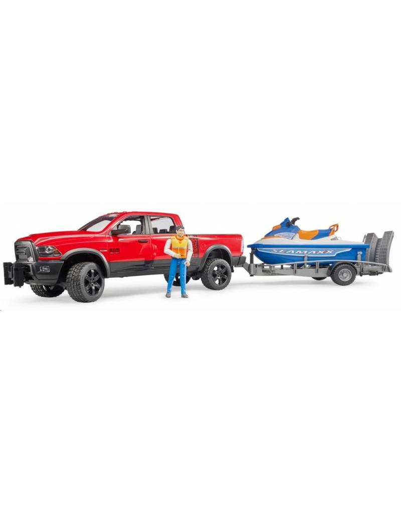 Bruder Bruder 2503 - RAM 25  Power wagon met aanhanger en waterscooter