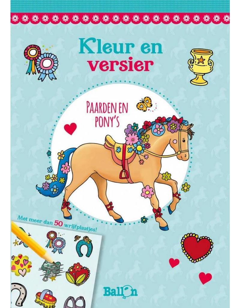 Ballon Kleur en versier - paarden en pony's