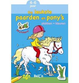 Ballon Plakken en kleuren - Paarden en pony's