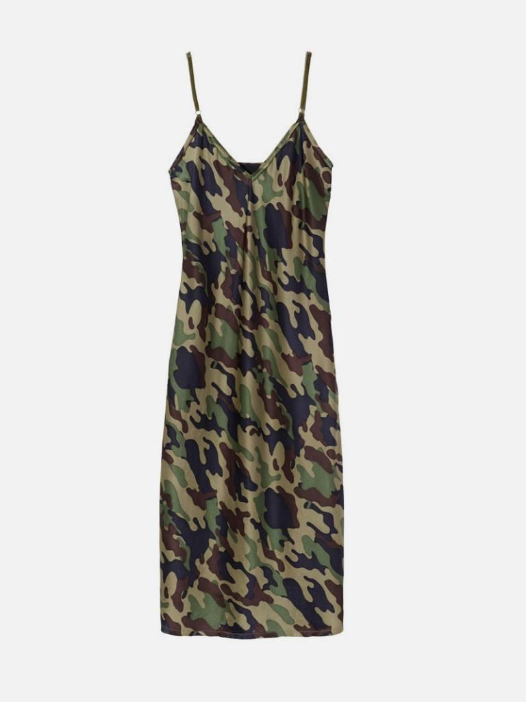 Nili Lotan Mid cami dress camouflage
