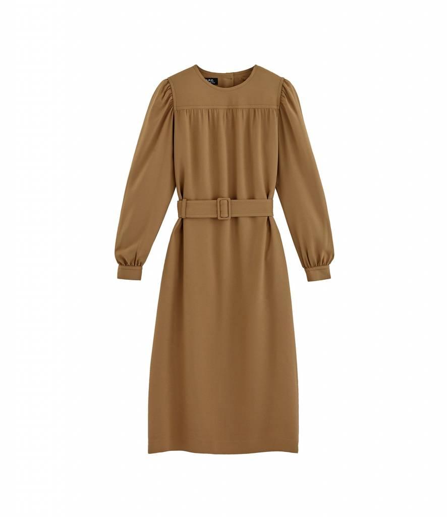 A.P.C. Marguerite dress camel