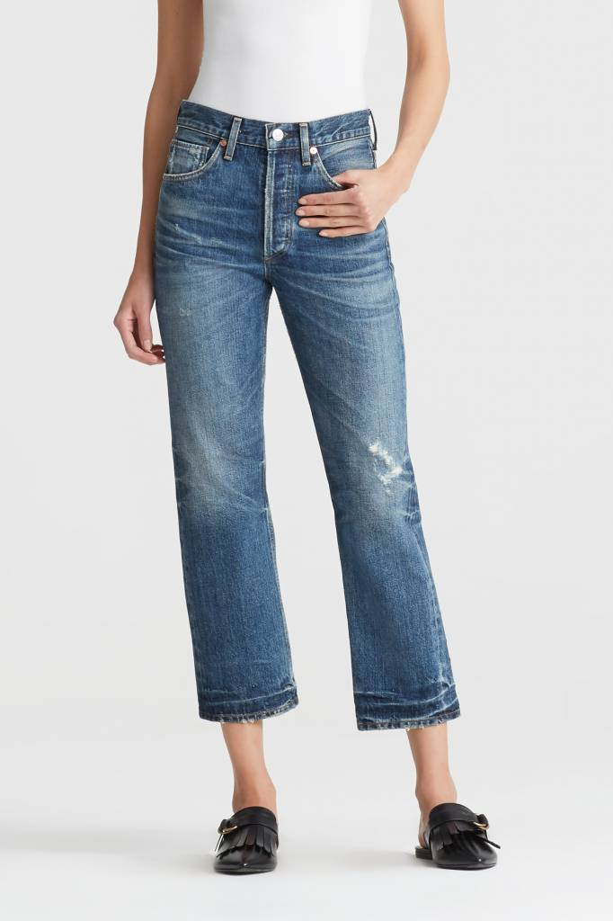 Gia high rise ankle jeans rollins