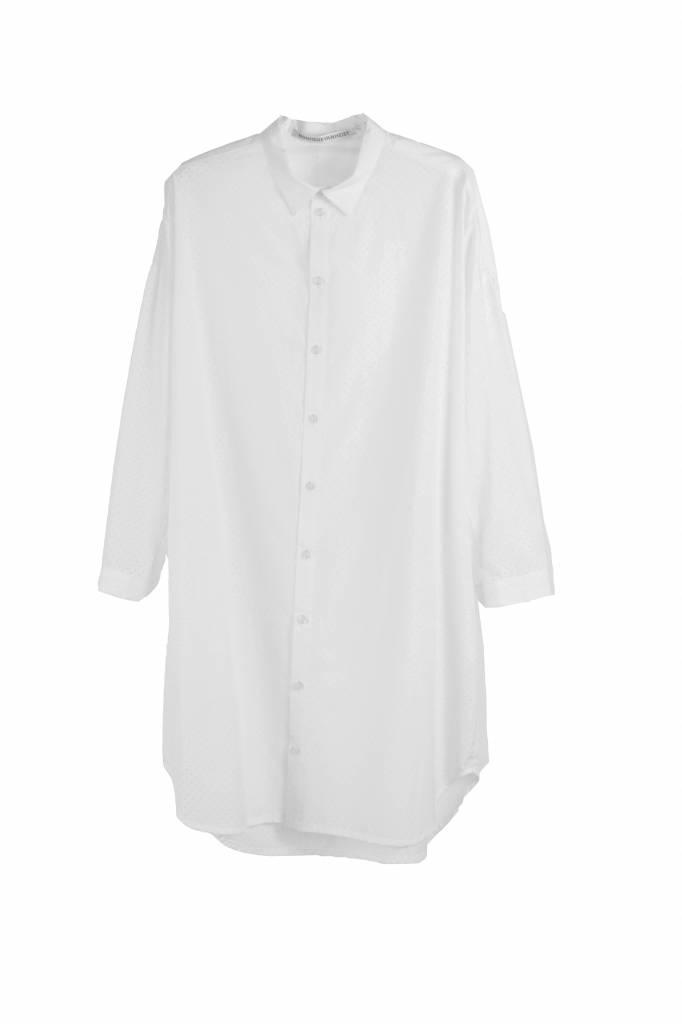 Monique van Heist 0+8 blouse white punch cotton