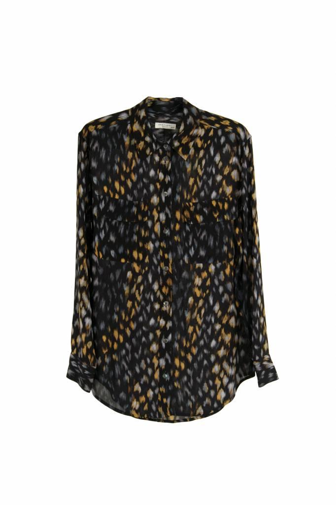 Equipment Signature blouse true black multi