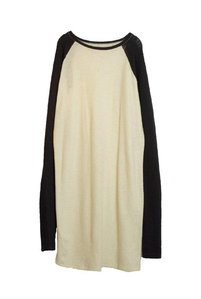 Long raglan sleeve dress ivory navy