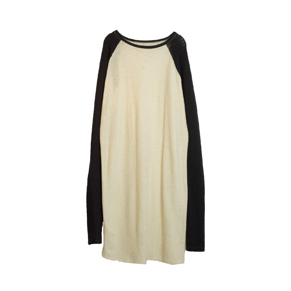 Stand Aloné Long raglan sleeve dress ivory navy