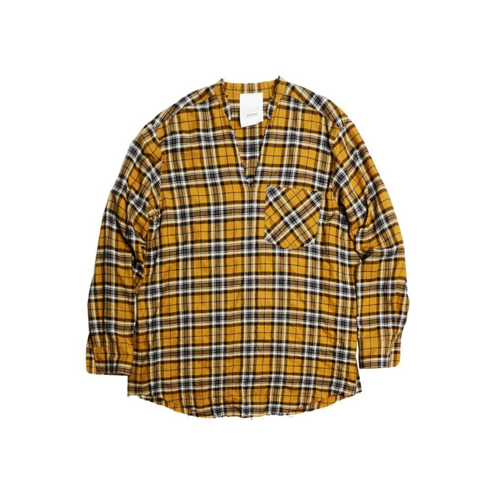 Stand Aloné Raglan v-neck shirt navy yellow check