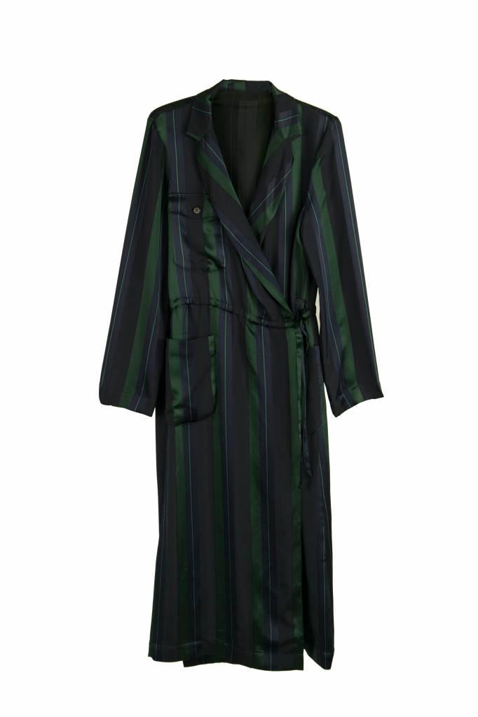 Rue Blanche Ovni dress stripe green/blue
