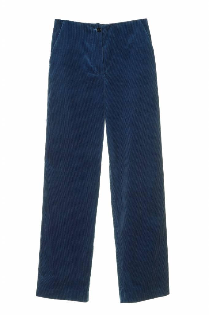 Rue Blanche Pluton pantalon blue velvet corduroy
