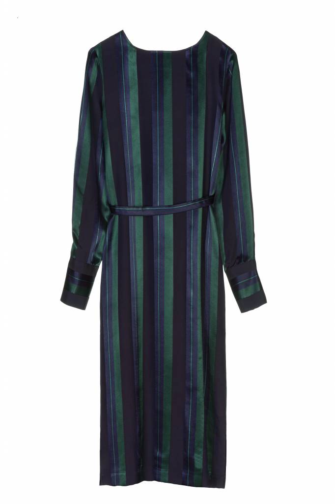 Rue Blanche Asteroide dress stripe green/blue