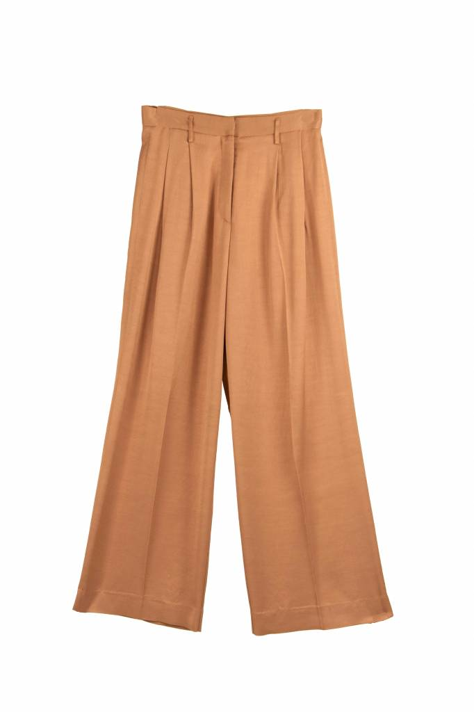 Pomandère Pleats Trousers salmon pink