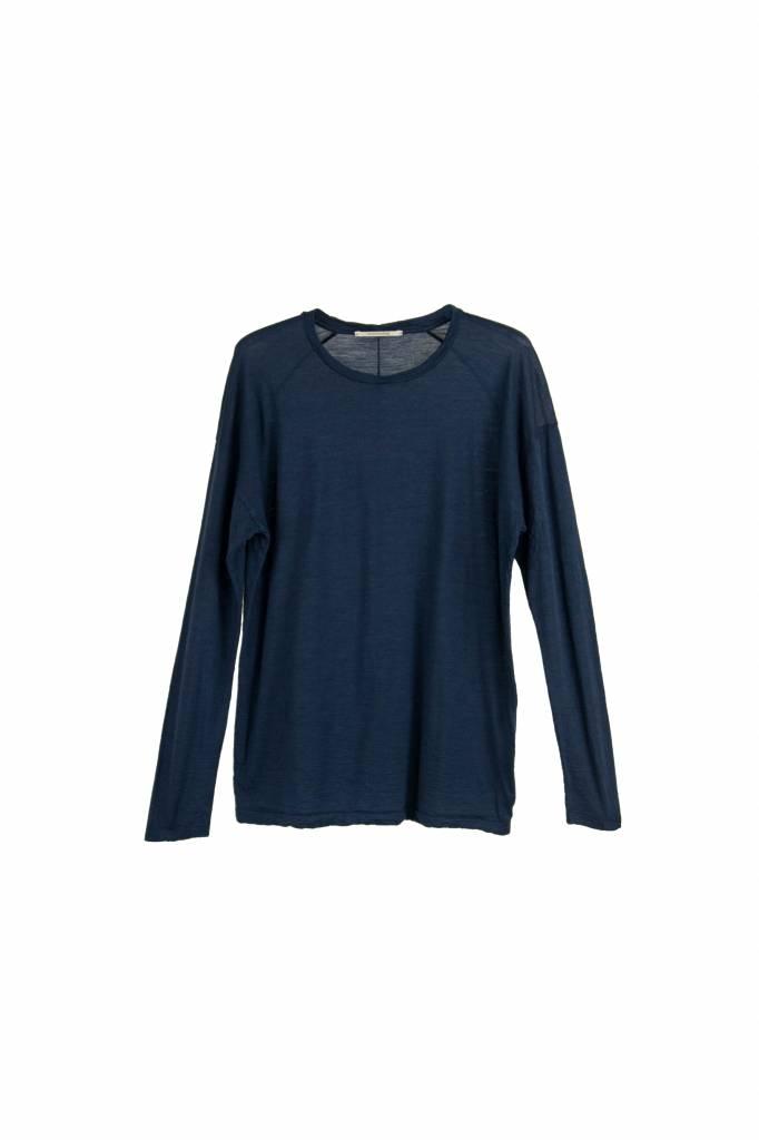 Pomandère t-shirt long sleeve indigo