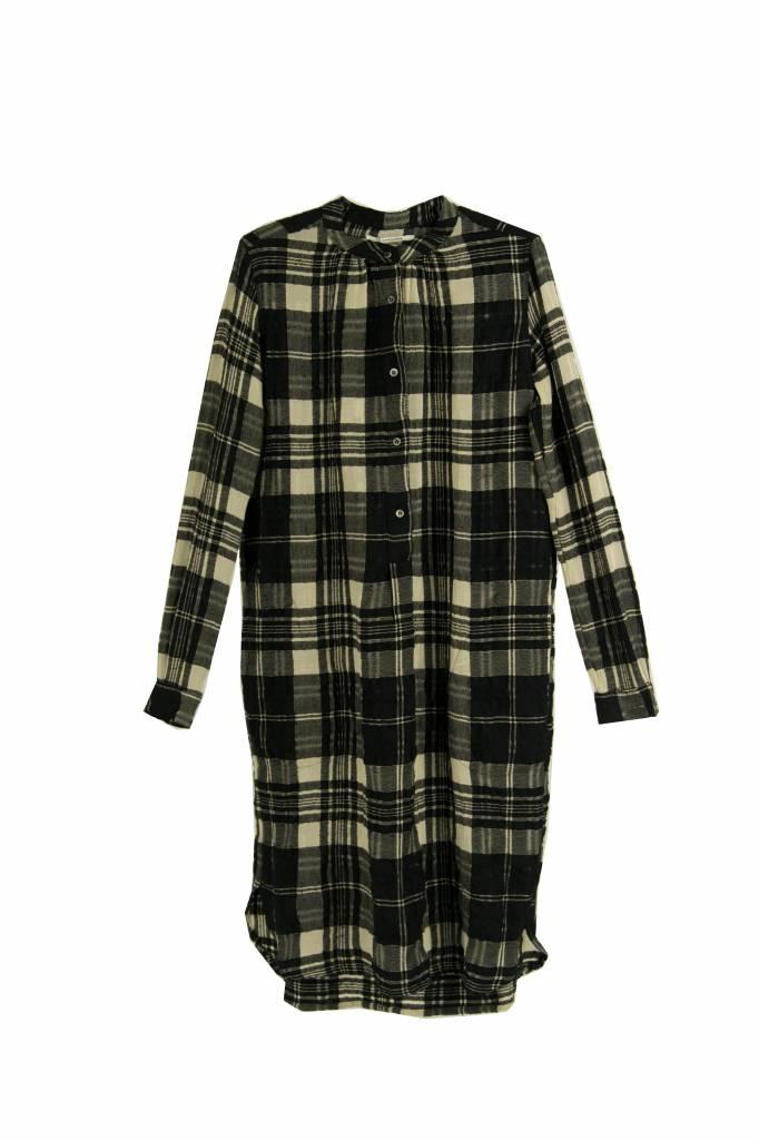 Pomandère dress black ecru check
