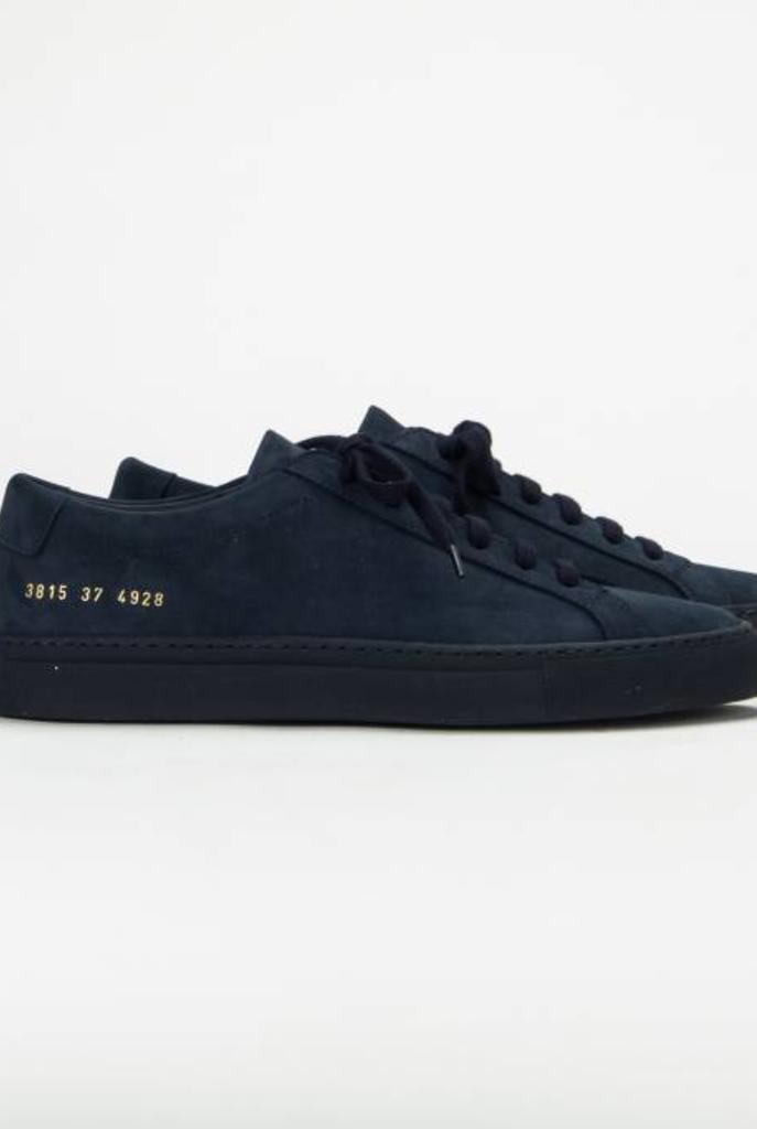 Achilles low sneaker nubuck blue