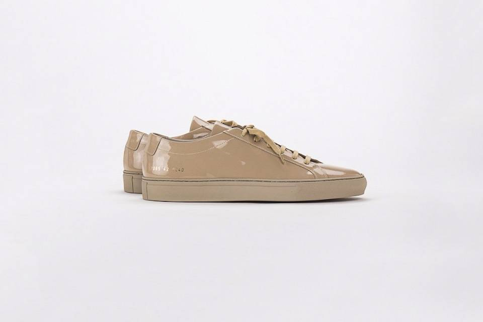 Achilles low sneaker gloss taupe