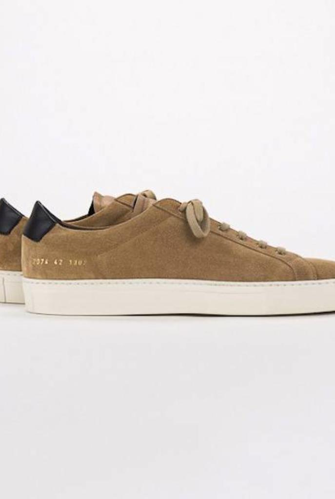 Achilles retro low sneaker suede cognac