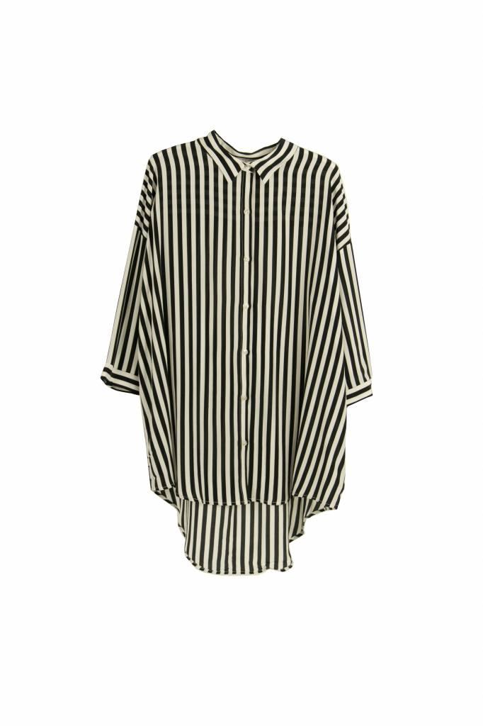 Kokoon Bianca shirt black/white stripe