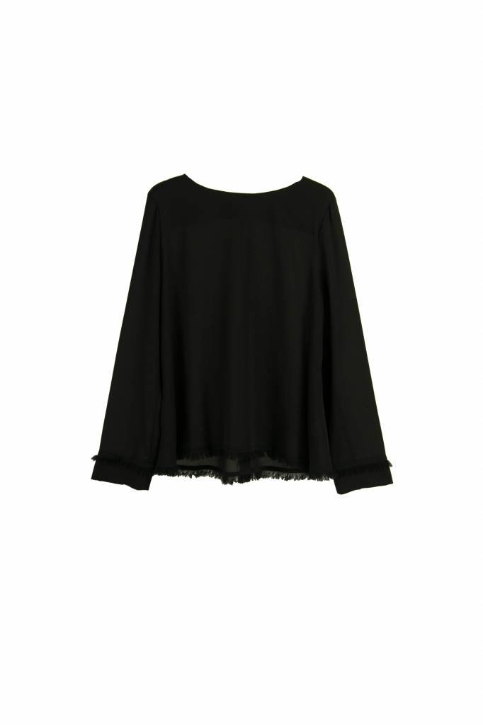 Kokoon A fringe blouse black