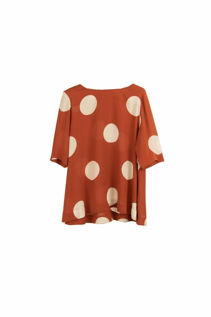 Kokoon A SS blouse orange polkadot